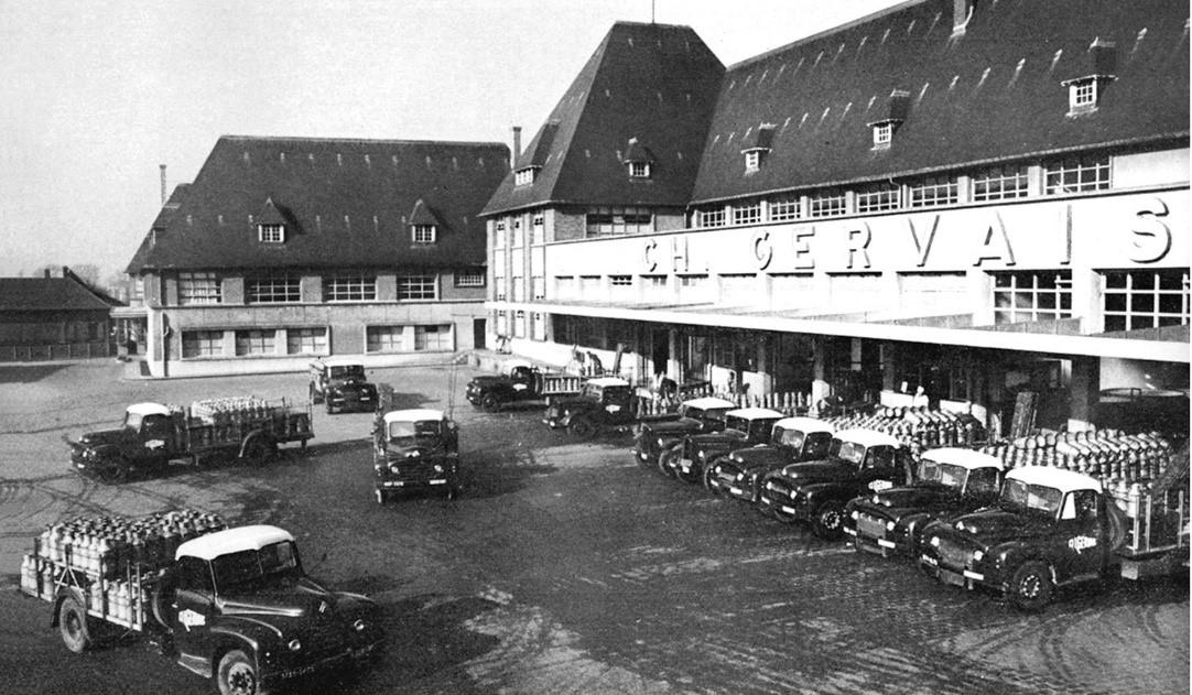 Photographie ancienne de l'usine Gervais